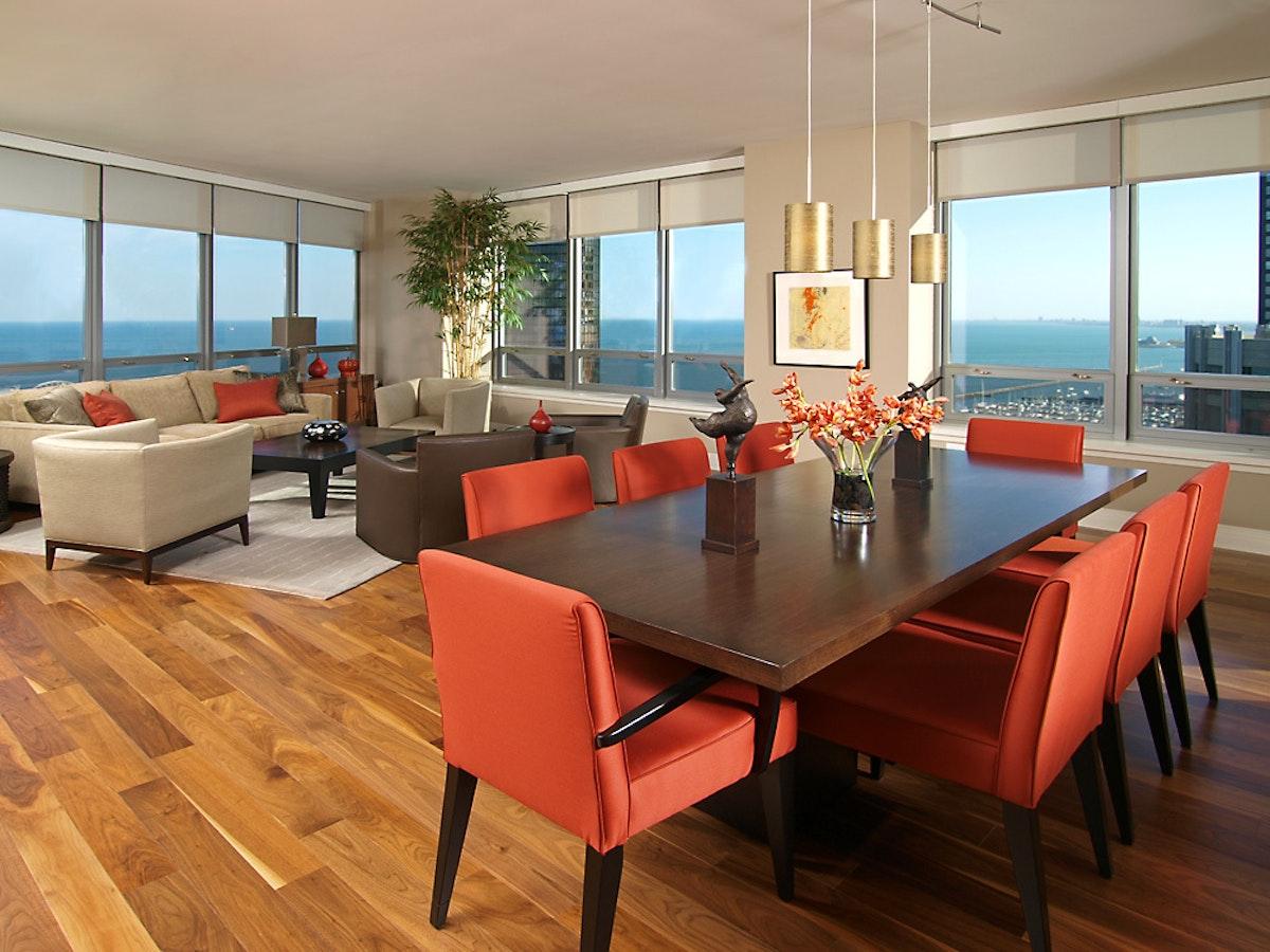 600 N Lake Shore Dr Living Dining Room